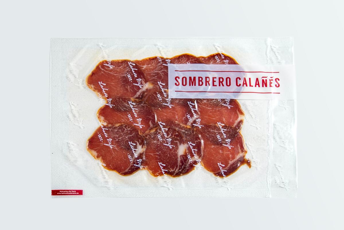 Imagen 2 de: Loncheado Caña Lomo Bellota 100% Ibérica Sombrero Calañés