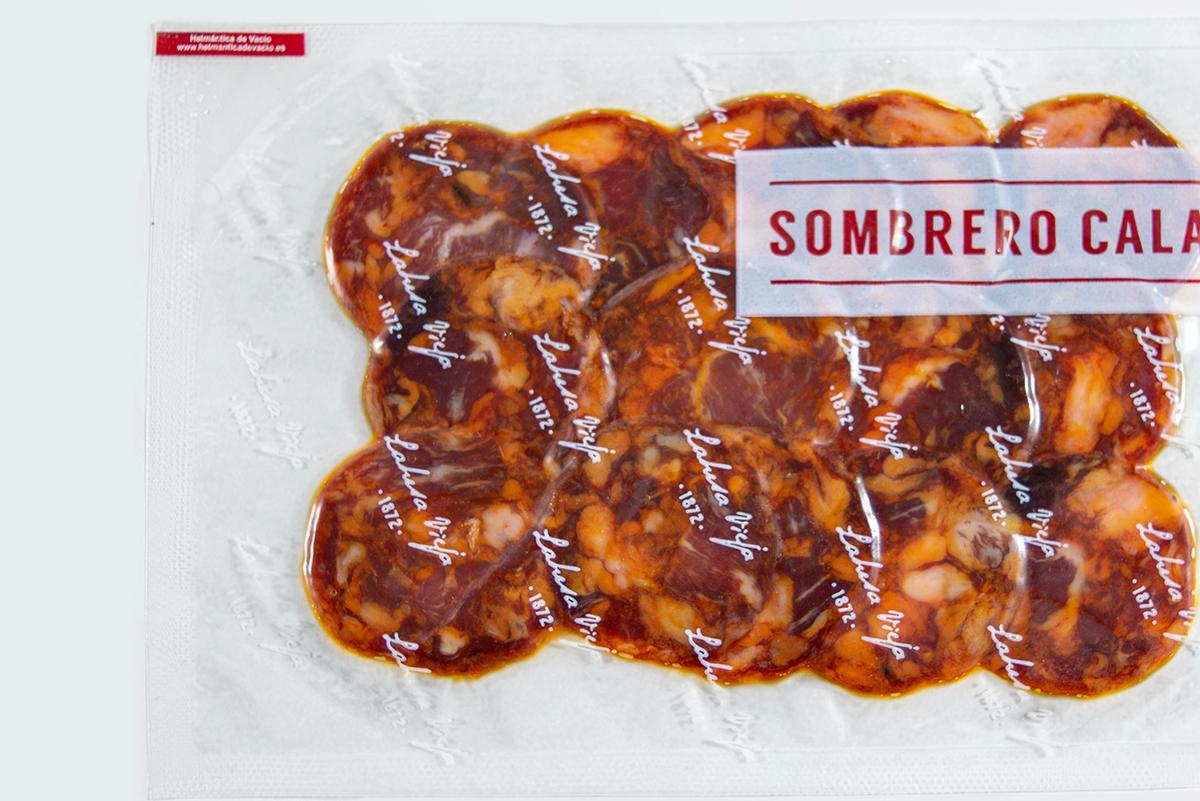 Imagen 1 de: Loncheado Chorizo Ibérico Bellota Sombrero Calañés